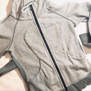Lululemon Hoodie Zip Front Fleece Striped Jacket